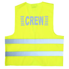 """""""CREW"""" Signalweste Warnweste in Gelb (Unisize) XL/XXL Aufdruck reflektierend"""