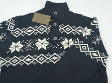 Weatherproof Garment Men's Sweater Pullover Collard Nordic Size L, NWT