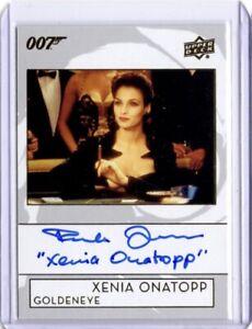 James Bond Upper Deck SP Inscription Autograph Card, A-FJ Famke Janssen