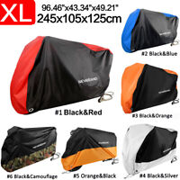NEVERLAND XL Size Waterproof Motorcycle Cover Touring Outdoor Dust UV Protection