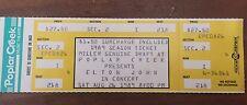Elton John Ticket Stub 1989 concert rock and roll Music