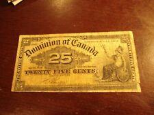 1900 - Canadian 25 cent bill - SHINPLASTER - Dominion of Canada