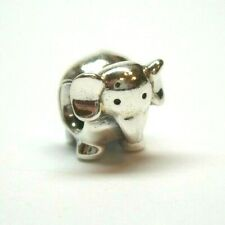 Beautiful Sterling silver 925 sterling Sterling Silver Reflections Rottweiler Head Bead