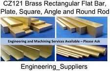Brass, Metal Round Rod, Square, Flat Bar, Rod & L Angle CZ121 100 to 600mm long