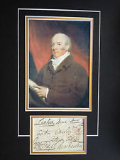 WILLIAM JOHNSTONE HOPE - PROMINENT NAVAL OFFICER WITH NELSON - SIGNED DISPLAY
