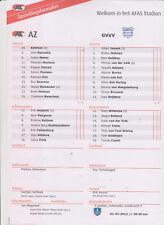 Opstellingen / Line-ups AZ Alkmaar v GVVV Veenendaal 01-02-2012 KNVB beker