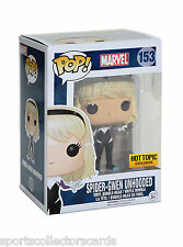 FUNKO POP SPIDER GWEN UNHOODED hot topic EXCLUSIVE with sticker # 153