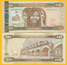 Eritrea 10 Nakfa p-11 2012 UNC Banknote