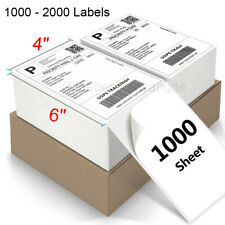 1000 2000 4 X 6 Fanfold Direct Thermal Shipping Labels For Zebra Printers Us