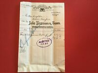 John Ferguson and Sons Brush Manufacturers 1905  Glasgow receipt R33110