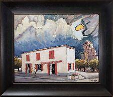 "Jean Claude Roy Oil Painting ""Cozes France, Bar Des Tilleuls"" FINE & BEAUTIFUL!"