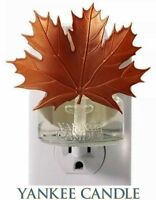 YANKEE Candle HOME SCENT Plug in Fragrance Oil Electric Base LEAF Leaves Decor