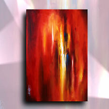 ORIGINAL PEINTURE Fantaisie Mélange Lang ABSTRAIT art artiste signée U. S. A.
