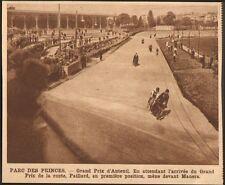 PARC DES PRINCES GRAND PRIX D' AUTEUIL CYCLISME PAILLARD MANERA IMAGE 1928
