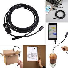 Lente de 7 mm Android teléfono endoscopio IP67 Borescope Snake LED Cámara 1.5M