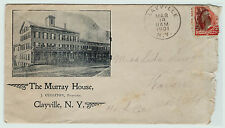 RARE 1901 Advertising Cover Envelope - Murray House Hotel - Clayville NY