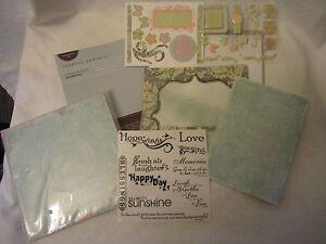 Creative Memories Scrapbook Recordable Paper Album Kit Beautiful Day Pastel