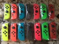Nintendo Switch Joy Con Single Neon Blue Red Yellow Green Pink Gray Mario Smash