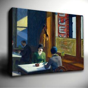 Edward Hopper 'CHOP SUEY' - Giclee CANVAS Wall Art Picture Print