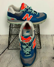 New Balance Sneakers 574 Winter Harbor Athletic Shoes Blue Orange White US 6
