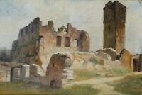 R.SCHICK(*1840), Mittelalterliche Ruine, 1881, Öl auf Leinwand