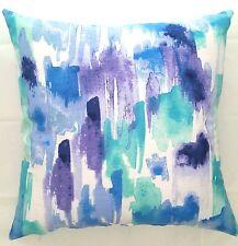 Handmade Aqua, lilac,Aquatic watermark  Home Decor Cushion Cover. 45x45 or 50x50
