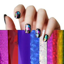 50 Colors Nail Art Transfer Foil Stickers for Nail Tips Decoration Set Wholesale