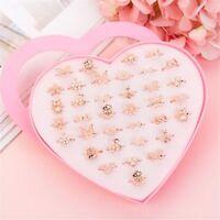 Earring Storage Case Ring Holder Heart-shape 36 Holes Ring Box Jewelry Box