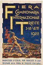 FIERA CAMPIONARIA INTERNAZIONALE TRIESTE 1922 cartolina illustratore Orell
