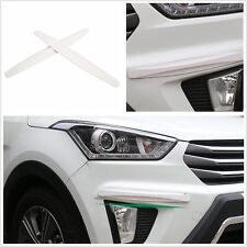 Universal White Front & Rear Car Bumper Protector Corner Guard Scratch Sticker