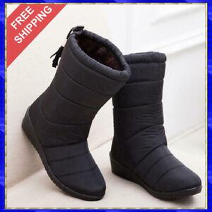 Botas De Invierno Para Mujer Zapatos De Nieve Impermeables Cálidas Botines Moda