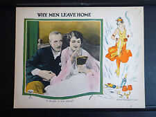 1924 WHY MEN LEAVE HOME - RARE EXC CON EXPLOITATION LOBBY CARD - SILENT - SEXY