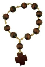 Wooden Prayer Bead Door Knob Rosary with Latin Cross, 12 1/2 Inch