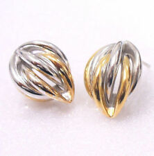 Yellow Gold Plated Stud Flowers & Plants Costume Earrings