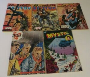 FRENCH COMIC BOOK DIGEST LOT OF 5 COMIC BOOK BUNDLE 1950-60s WAR  **FREE ***