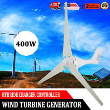 3 Blades 400W Power DC 12V Wind Turbine Generator Kit + Charge Controller US