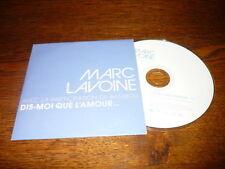 MARC LAVOINE BAMBOU CDS EU PROMO DIS-MOI QUE L'AMOUR...
