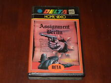 Assignment Berlin Beta 1980's Action Drama Delta Home Video