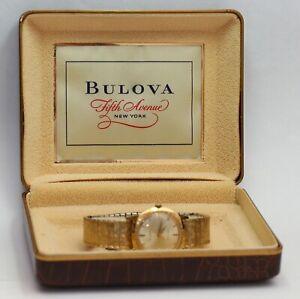1955 vintage Mens Bulova Automatic Wristwatch w/ Original Band & Box, EXCELLENT