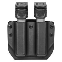 Amberide Double OWB Universal Double Magazine Holster Fit: 9mm/.40 Double Stack