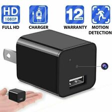 HD 1080P Hidden Mini Spy Camera Charger WiFi Adapter Home Security Night Vision