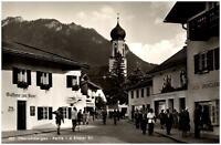 Oberammergau Postkarte ~1950/60 Partie in der Ettaler Straße Gasthaus zum Stern