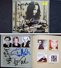 Helene Grimaud Truls Mork de Otter haïr signed Reflection SCHUMANN BRAHMS CD