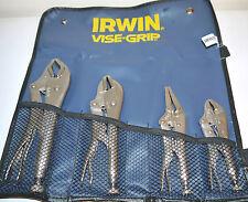 """Irwin Vise Grip set 4pc V428GS the original mole grips since 1924,5"""",6"""",7""""10"""""""