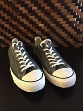 Converse All Star Chuck Taylor Canvas Shoes Low Top Gray  Men's 12 Women's  14
