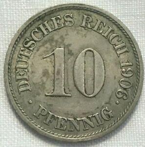 Germany 10 Pfennig coin 1906-J