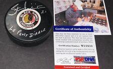 Stan Mikita Chicago Blackhawks Autographed Signed Puck PSA COA Le Petit Diable