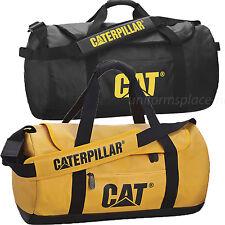 Caterpillar Duffel Bag CAT Carry Duffel Tote Bag W/ Shoulder Strap Black, Yellow