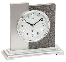 AMS -naturstein 17cm- 5150 moderne Horloge de table avec radio,Batterie