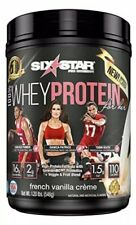 Six Star 100% Whey Protein French Vanilla Crime Net Weight 1.20 Lbs Expjuly2020
